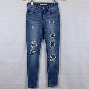 KanCan Estilo Ripped Destroyed Holes Skinny Jeans